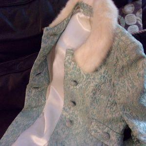 Vintage 60's dress hand made & Jacket fox . sz S-M